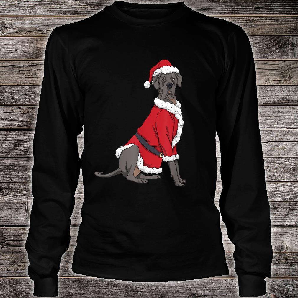Great Dane Christmas Dog Santa Xmas Shirt long sleeved