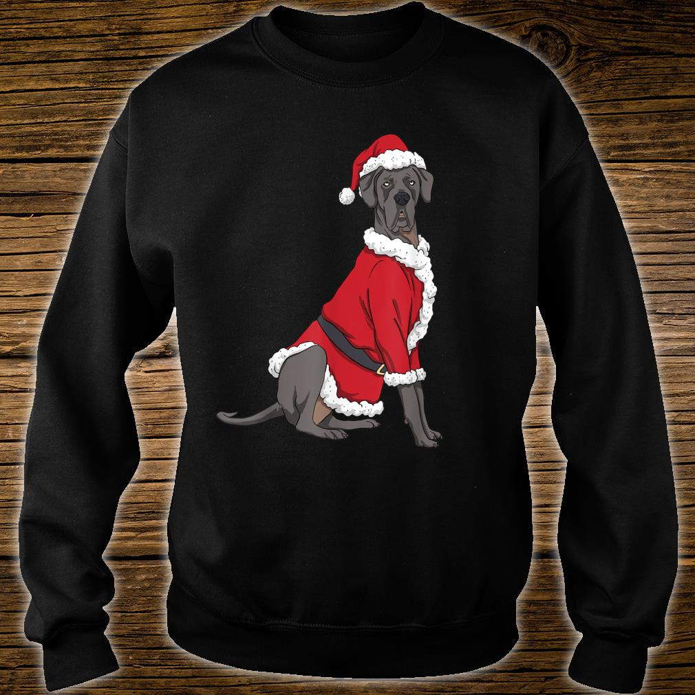 Great Dane Christmas Dog Santa Xmas Shirt sweater