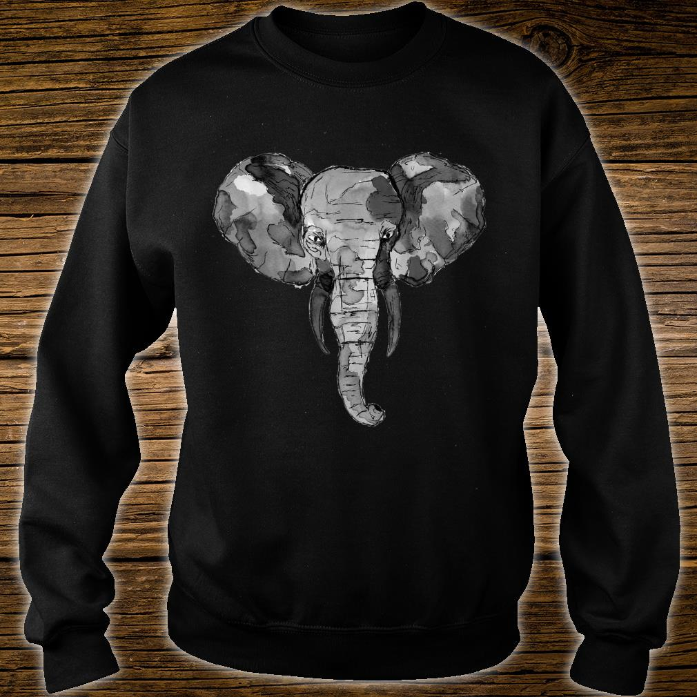Grey African Elephant Shirt sweater