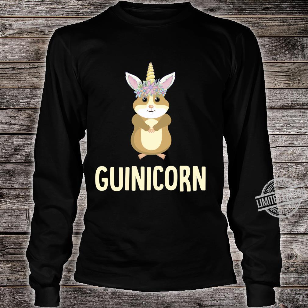 Guinicorn Guinea Pig Cute Cavy Unicorn Animal Pet Shirt long sleeved