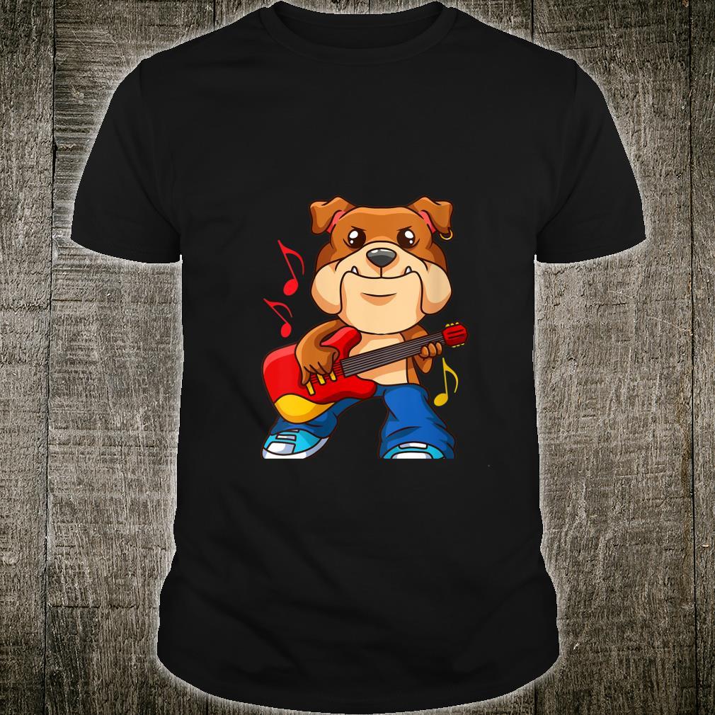 Guitarist Dog Guitar Player Musician Band Rock N Roll Musi shirt