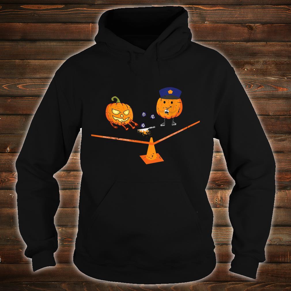 Halloween Crime Scene Pumpkins Shirt hoodie