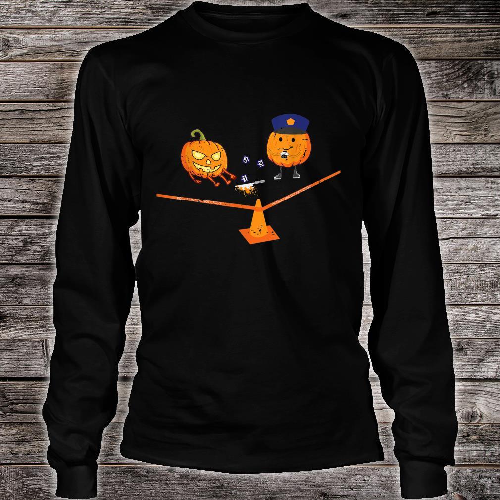 Halloween Crime Scene Pumpkins Shirt long sleeved