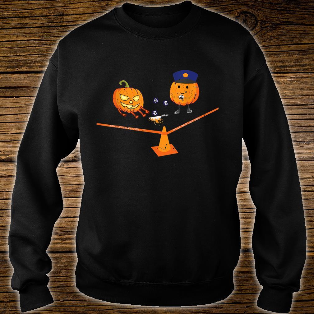 Halloween Crime Scene Pumpkins Shirt sweater