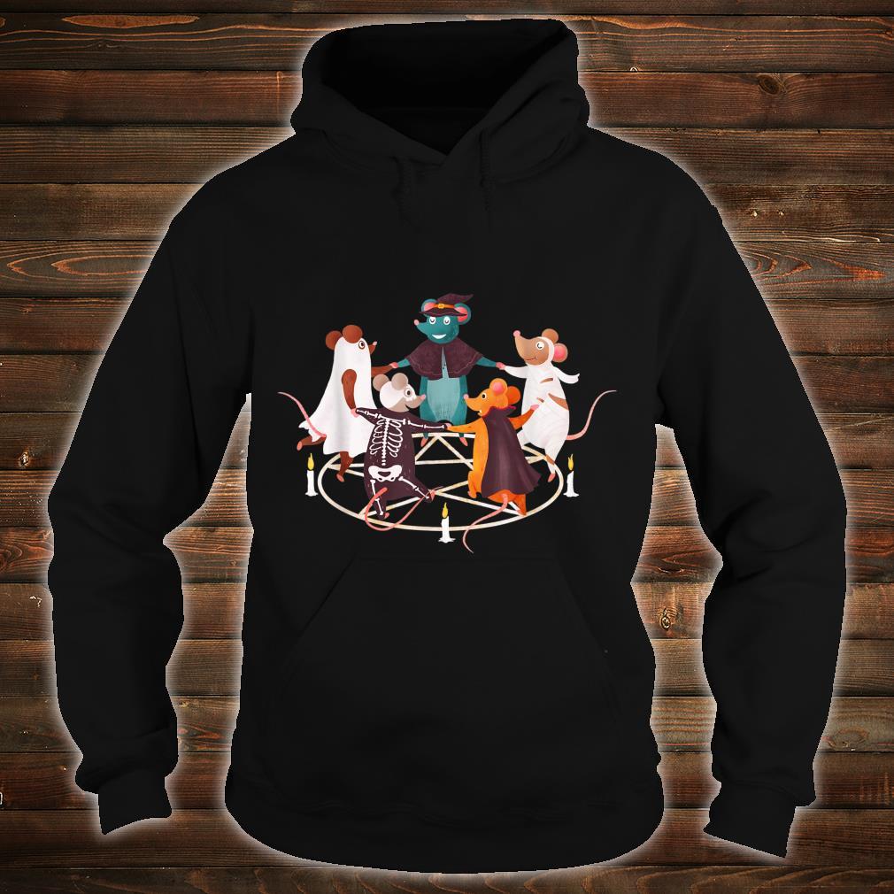 Halloween Cute Dancing Mice Mouse Costume Occult Satanic Art Shirt hoodie
