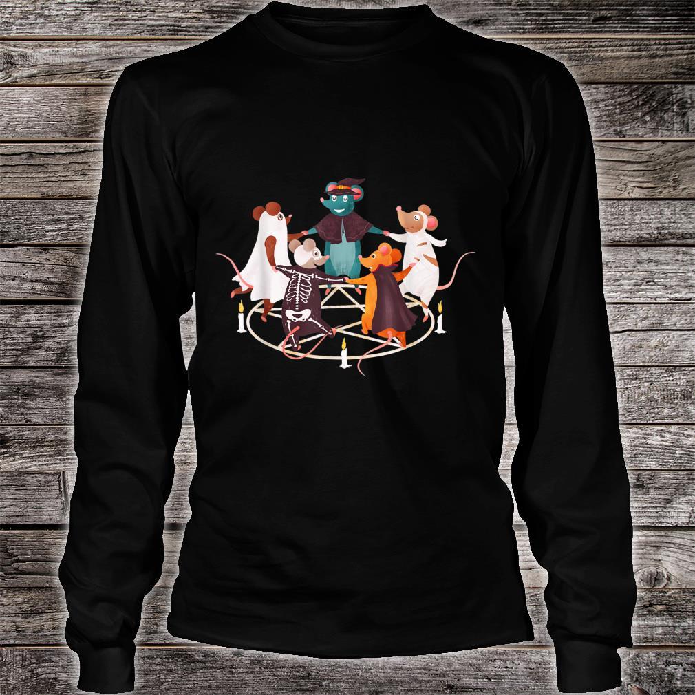 Halloween Cute Dancing Mice Mouse Costume Occult Satanic Art Shirt long sleeved