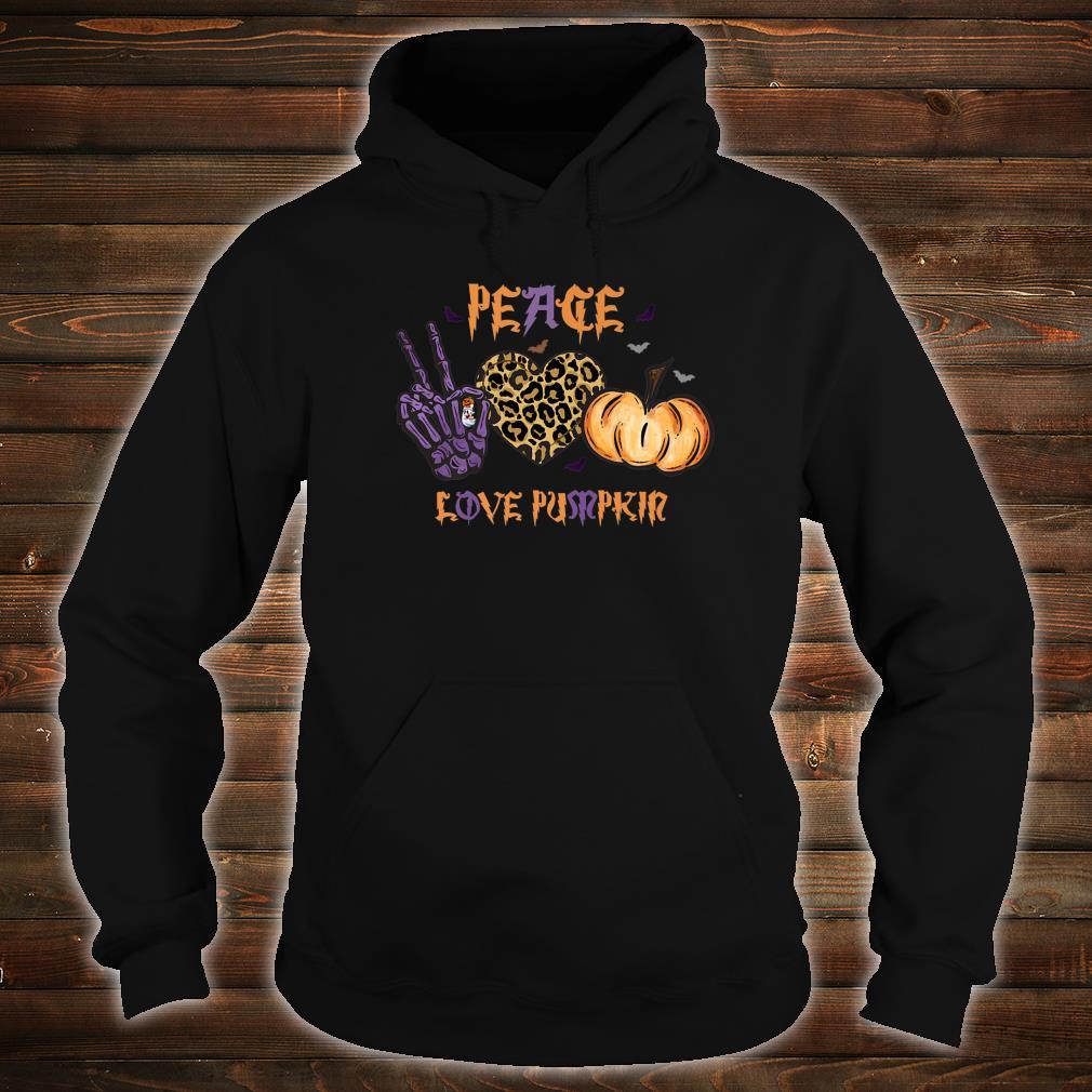 Halloween Peace Love Pumpkin Girls Cute Shirt hoodie