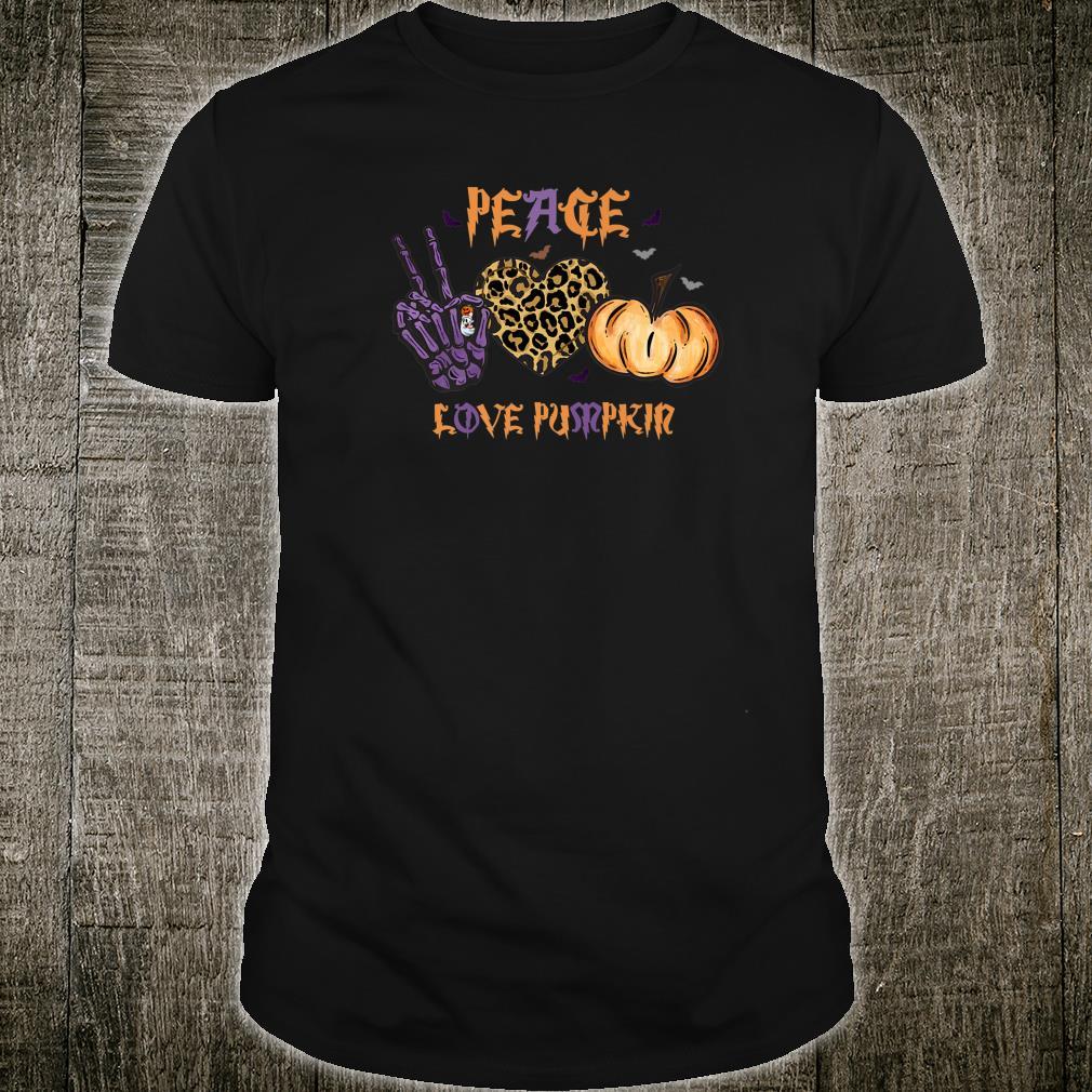 Halloween Peace Love Pumpkin Girls Cute Shirt