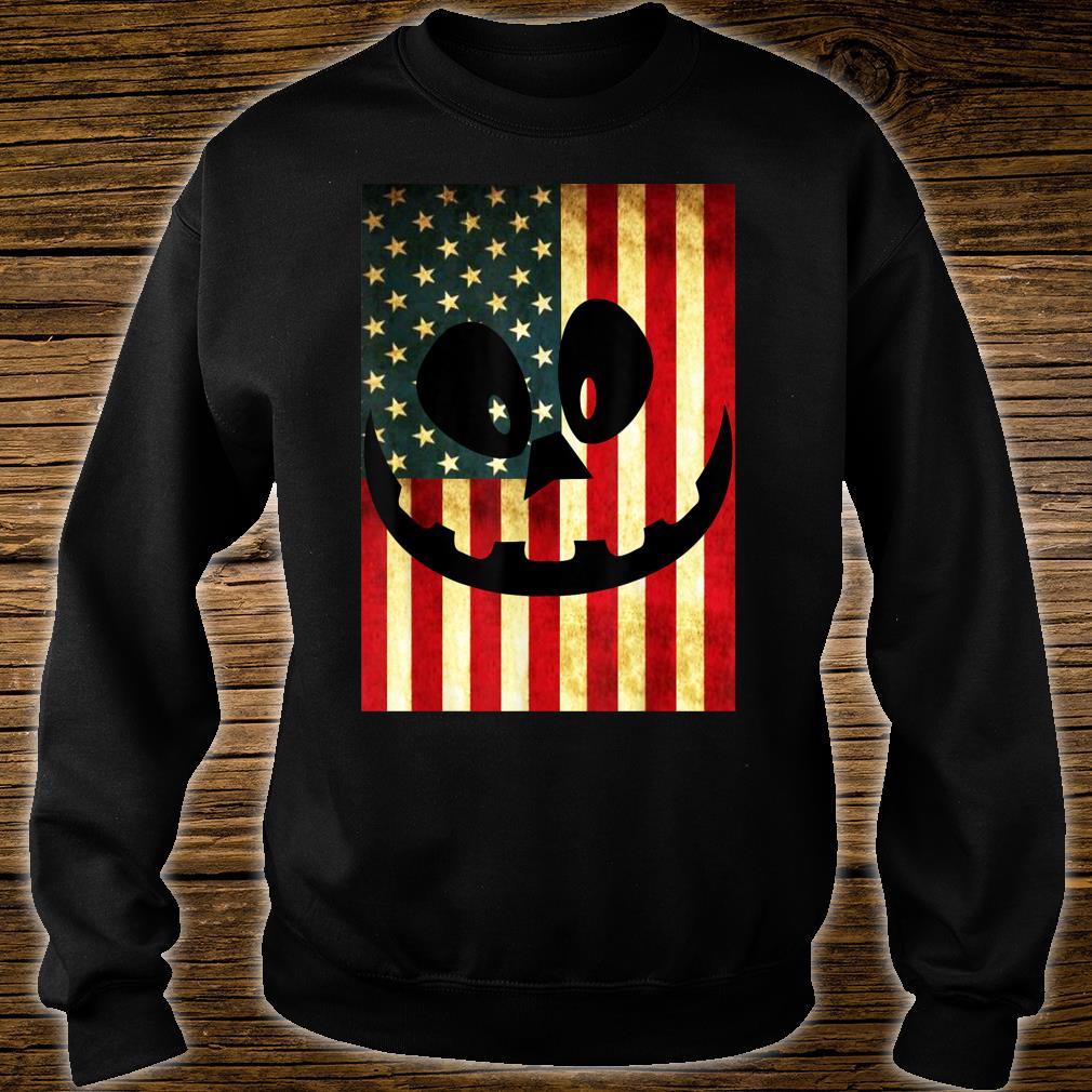 Halloween Pumpkin Lantern USA Flag Pumpkin Patriotism Shirt sweater