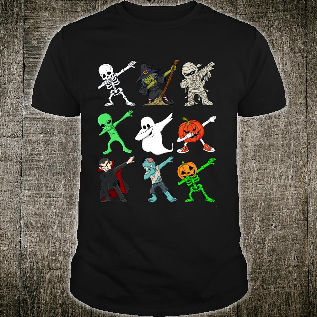 Halloween tupfende SkelettHexe und Monste Shirt