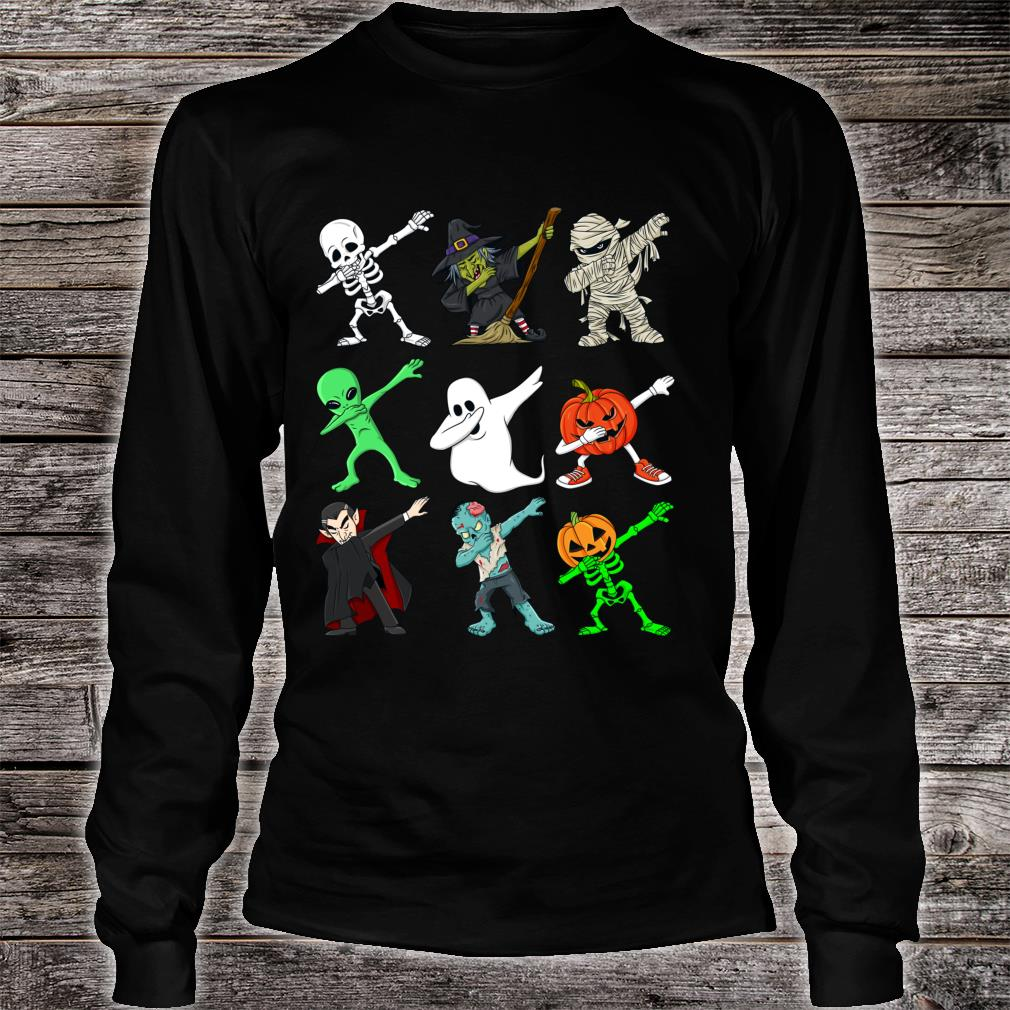 Halloween tupfende SkelettHexe und Monste Shirt long sleeved