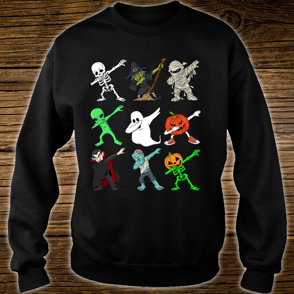 Halloween tupfende SkelettHexe und Monste Shirt sweater