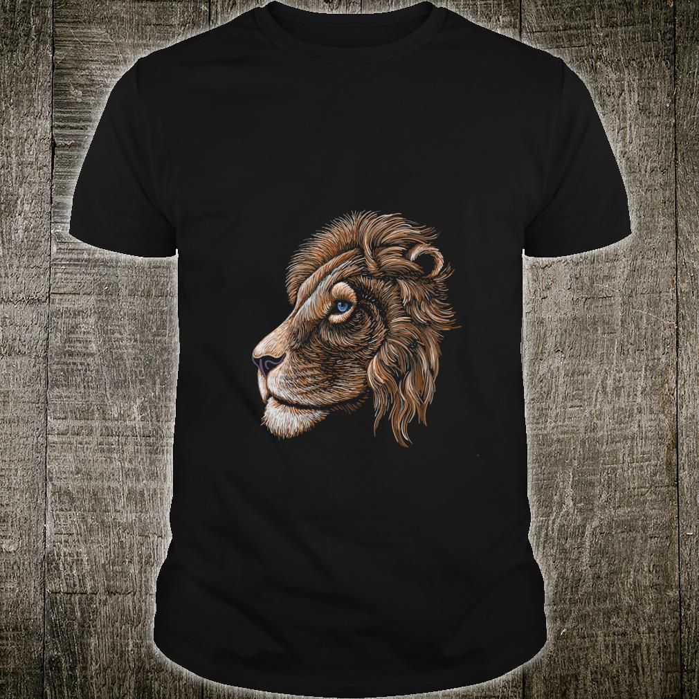 HandDrawn Realistic Lion Head Shirt