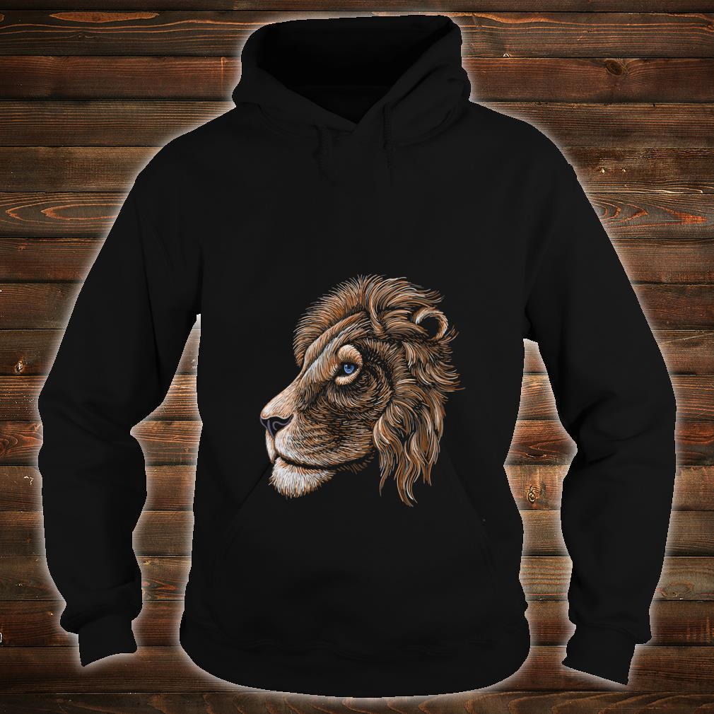 HandDrawn Realistic Lion Head Shirt hoodie