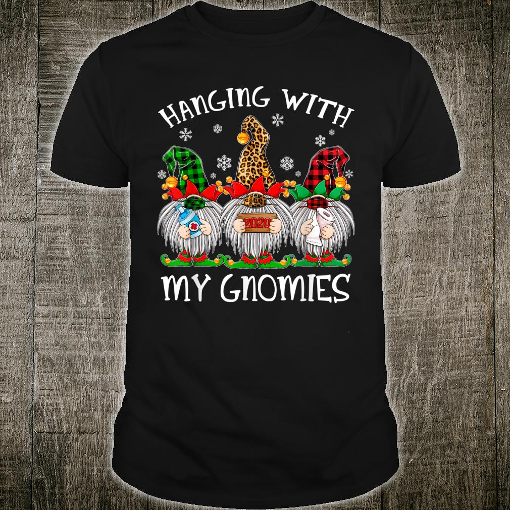 Hanging With My Gnomies Christmas 2020 Gnome Wearing Mask Shirt