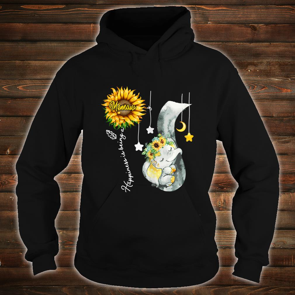 Happiness is being a Memaw Elephant Mother's Day Shirt hoodie