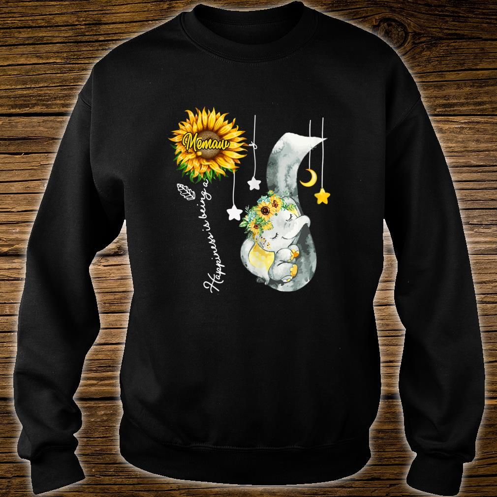 Happiness is being a Memaw Elephant Mother's Day Shirt sweater