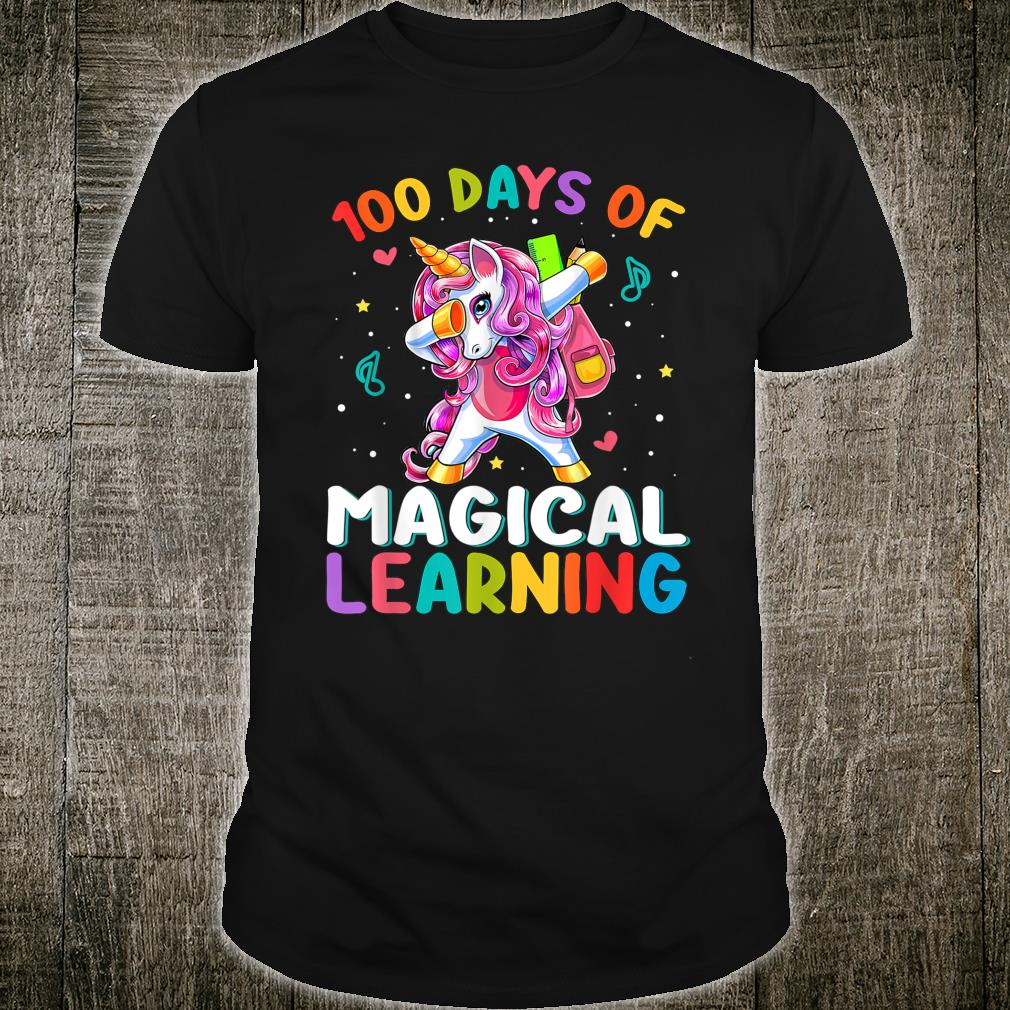 Happy 100 Days Of School Magical Learning Unicorn Dabbing Shirt