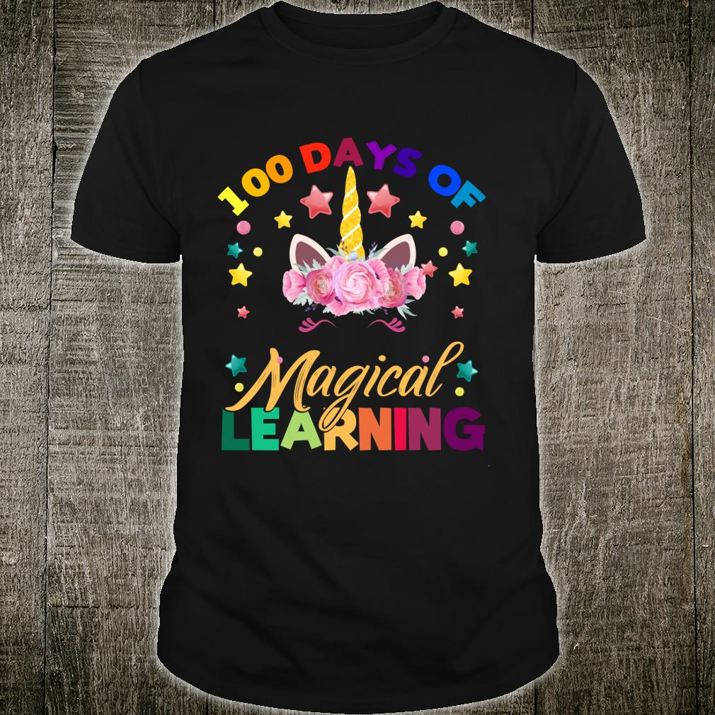 Happy 100 Days Of School Magical Learning Unicorn Shirt