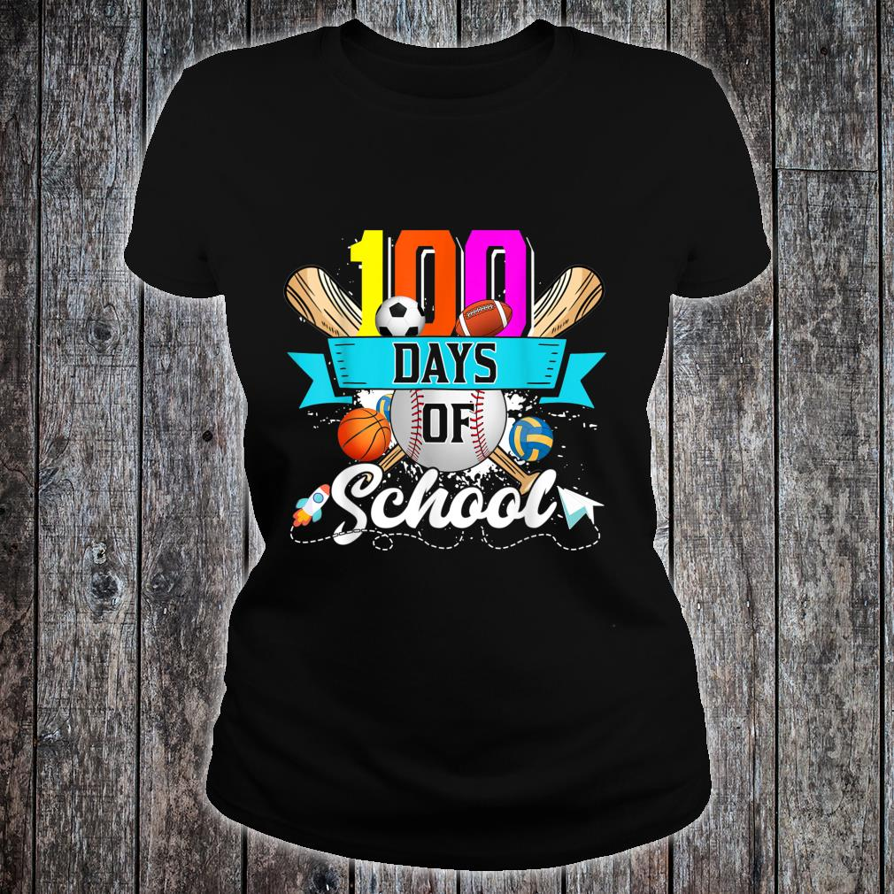 Happy 100th Day Of School 100 Days Of School Shirt ladies tee
