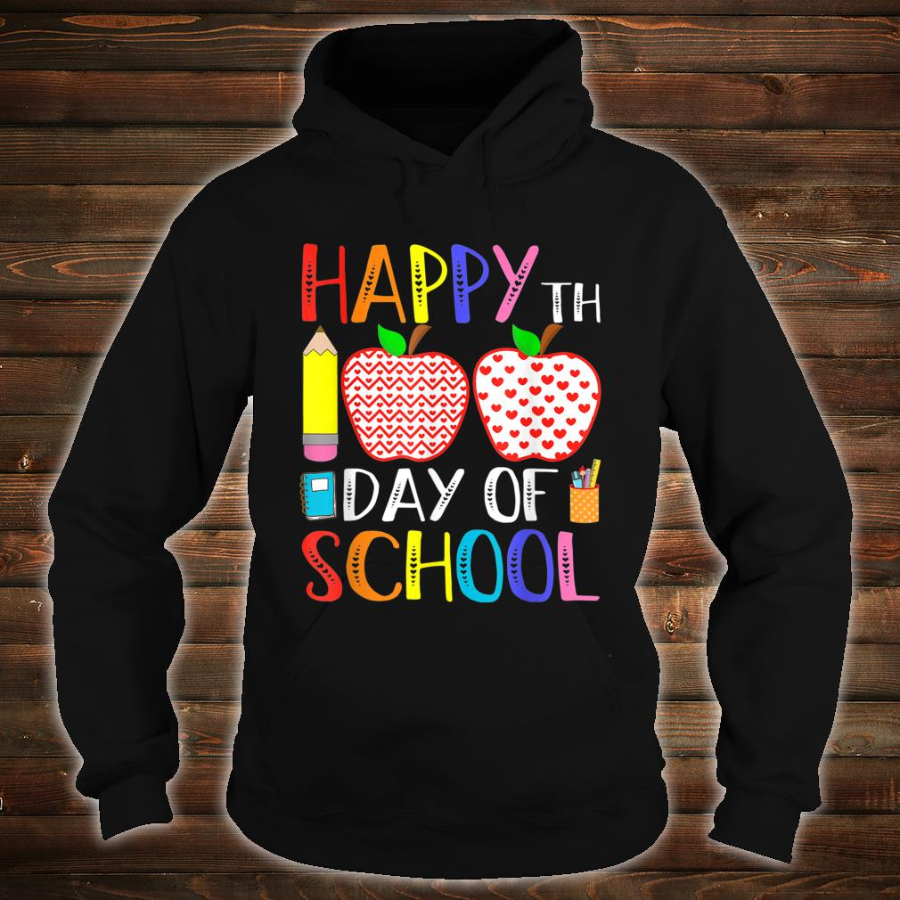 Happy 100th Day Of School Teacher 100 Days Shirt hoodie