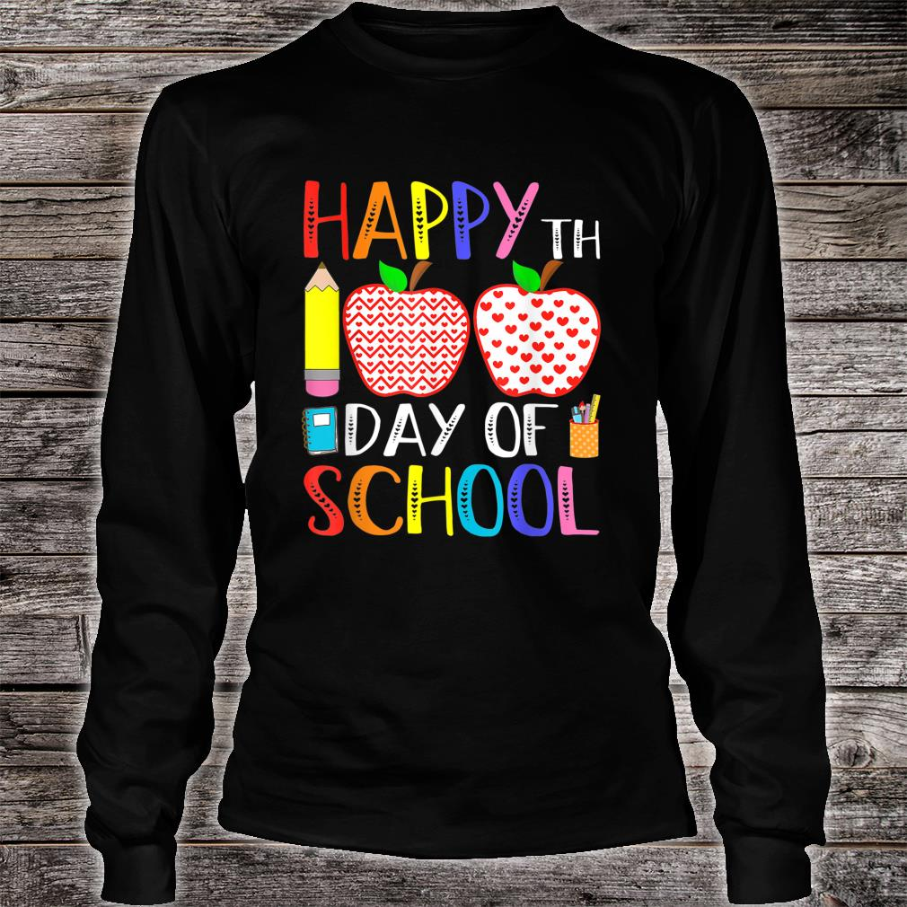 Happy 100th Day Of School Teacher 100 Days Shirt long sleeved