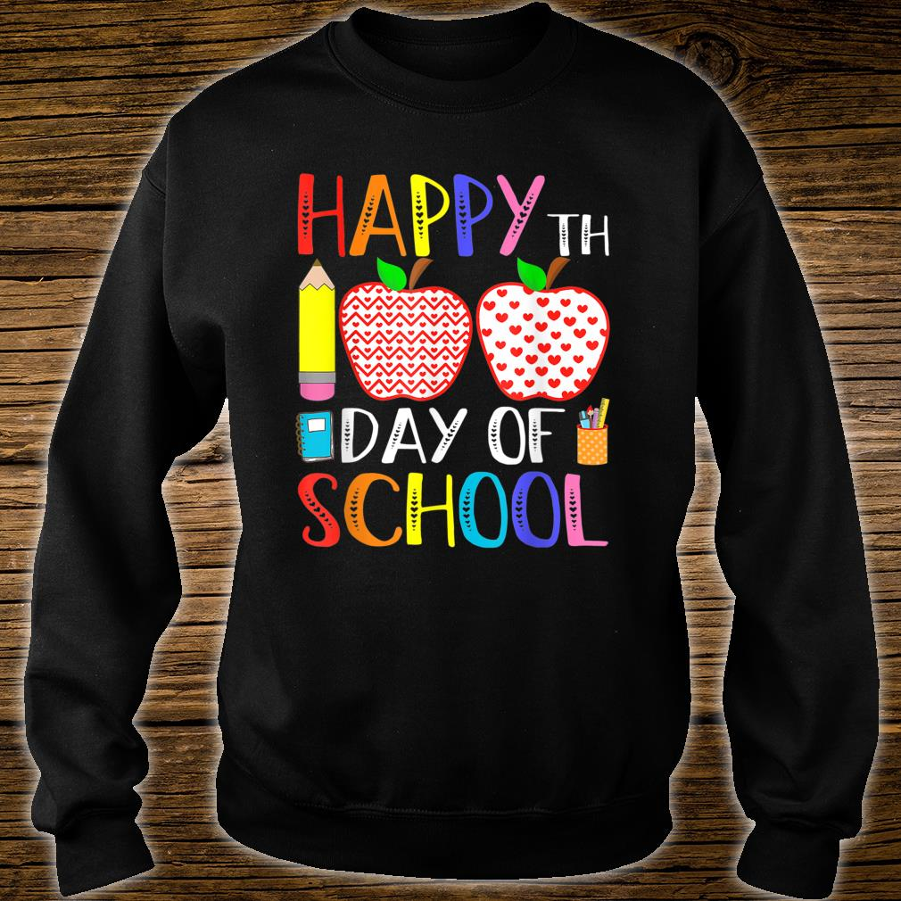 Happy 100th Day Of School Teacher 100 Days Shirt sweater