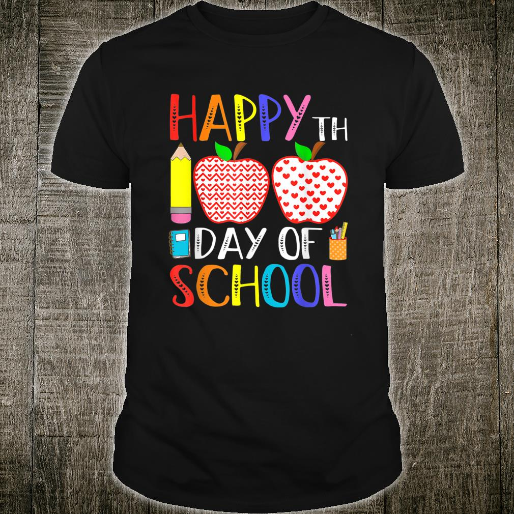 Happy 100th Day Of School Teacher 100 Days Shirt