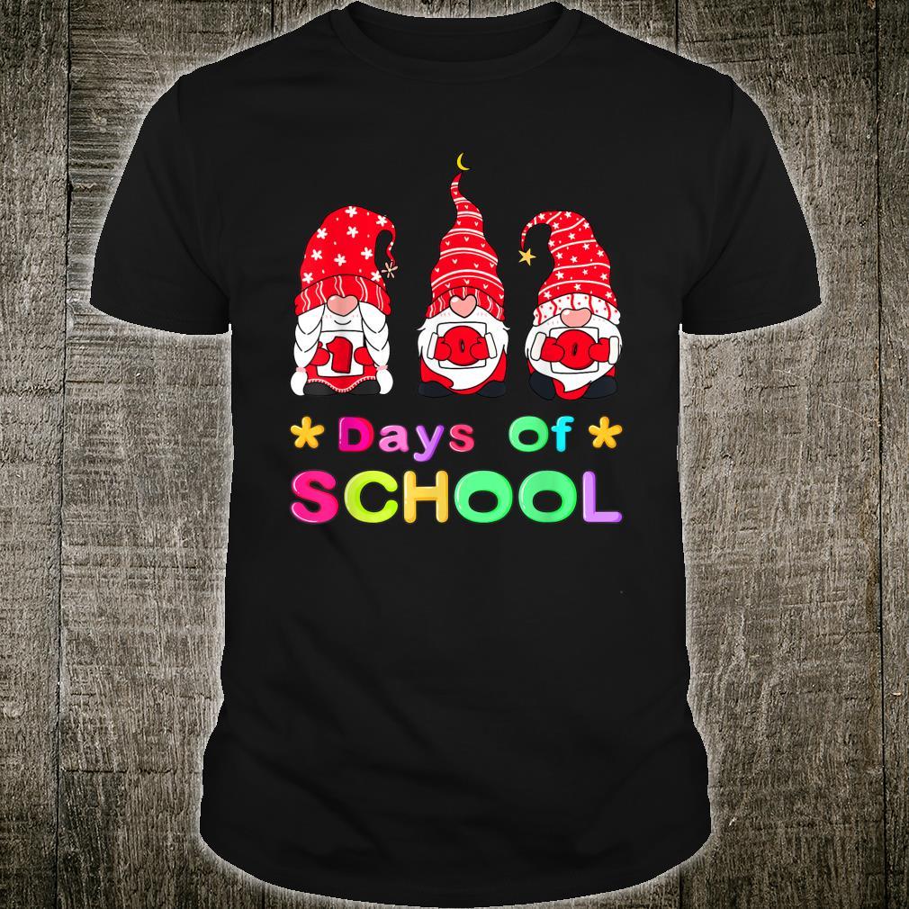 Happy 100th Day Of School Three Gnomes Virtual Teachers Shirt