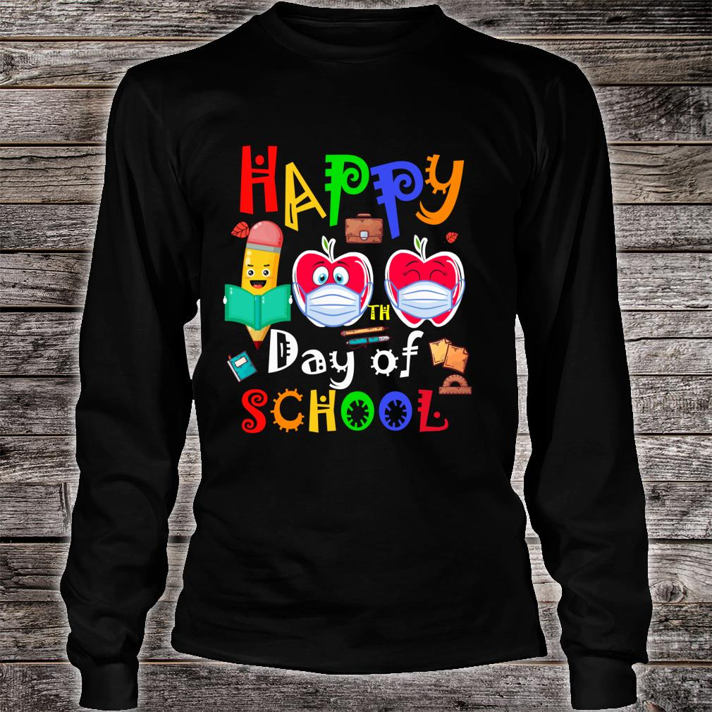 Happy 100th Day Of Virtual School Students And Teachers Shirt long sleeved