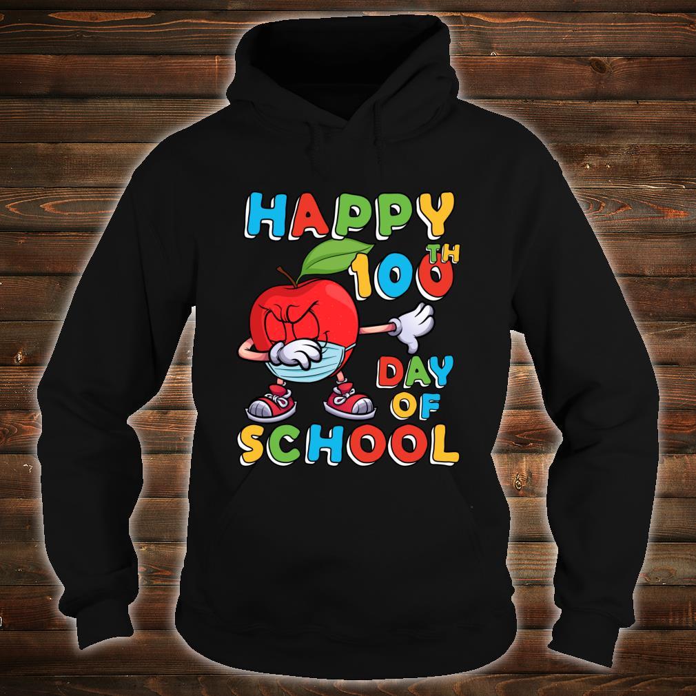 Happy 100th Day of School Dabbing Apple Wearing Mask Shirt hoodie