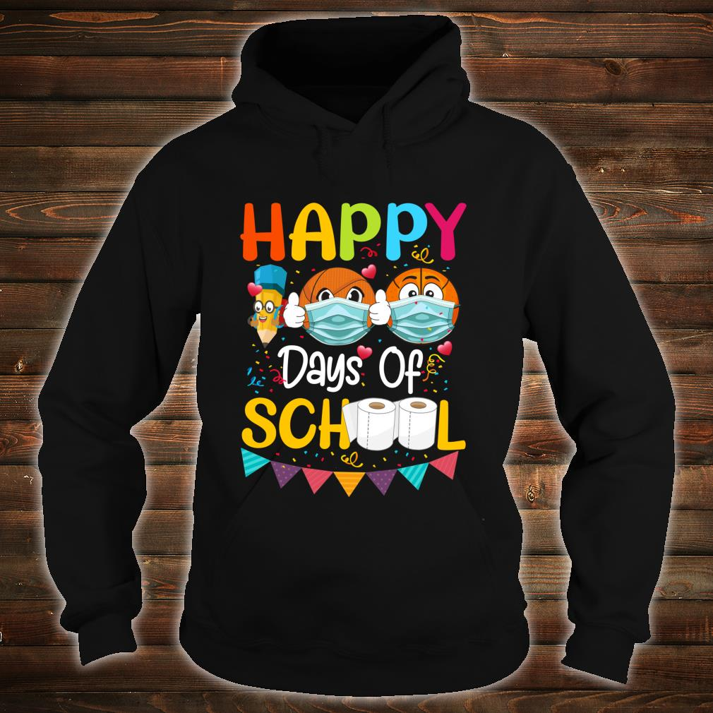 Happy 100th Day of School for Love Basketball Shirt hoodie