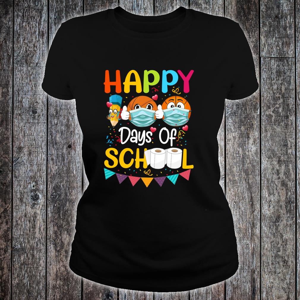 Happy 100th Day of School for Love Basketball Shirt ladies tee