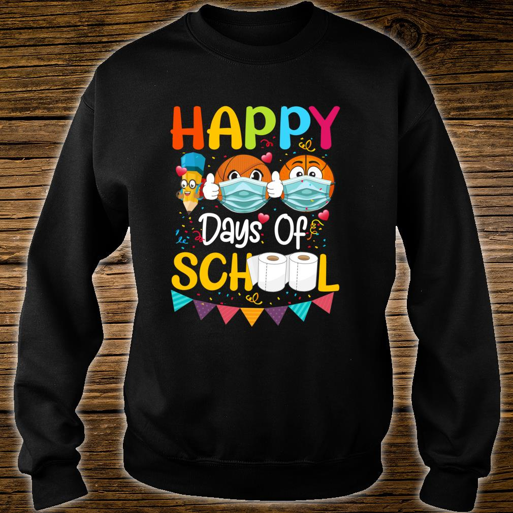 Happy 100th Day of School for Love Basketball Shirt sweater