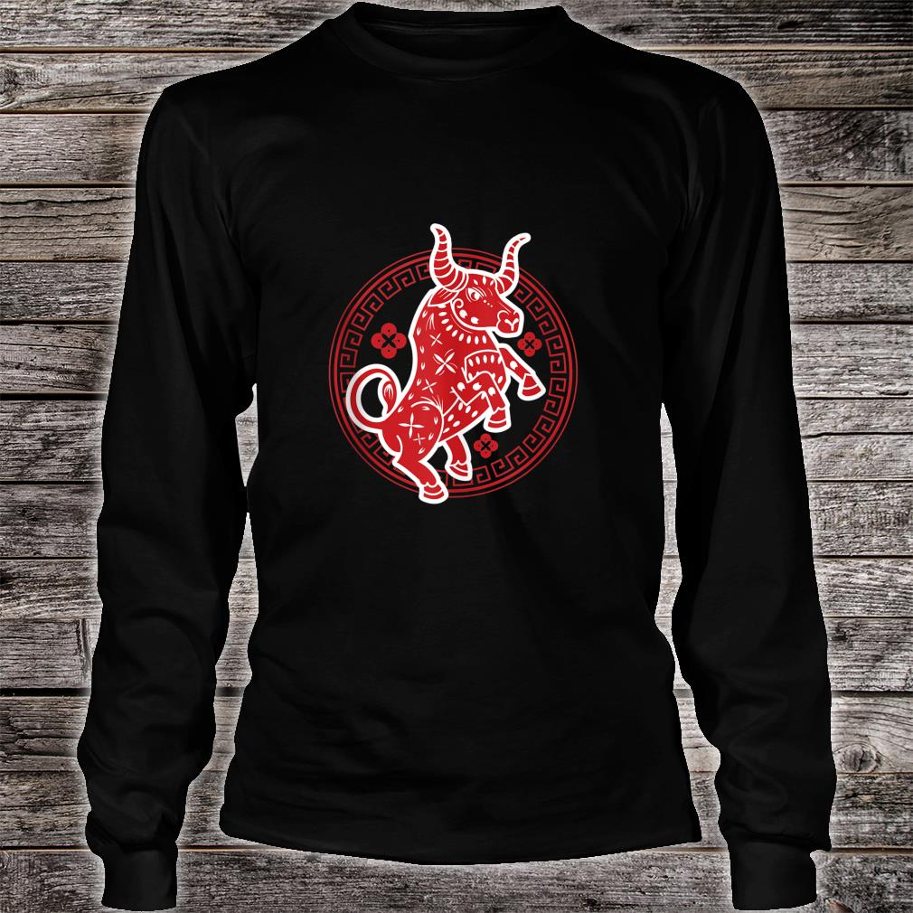 Happy Chinese New Year 2021 Ox Energy Life Strong Health Joy Shirt long sleeved