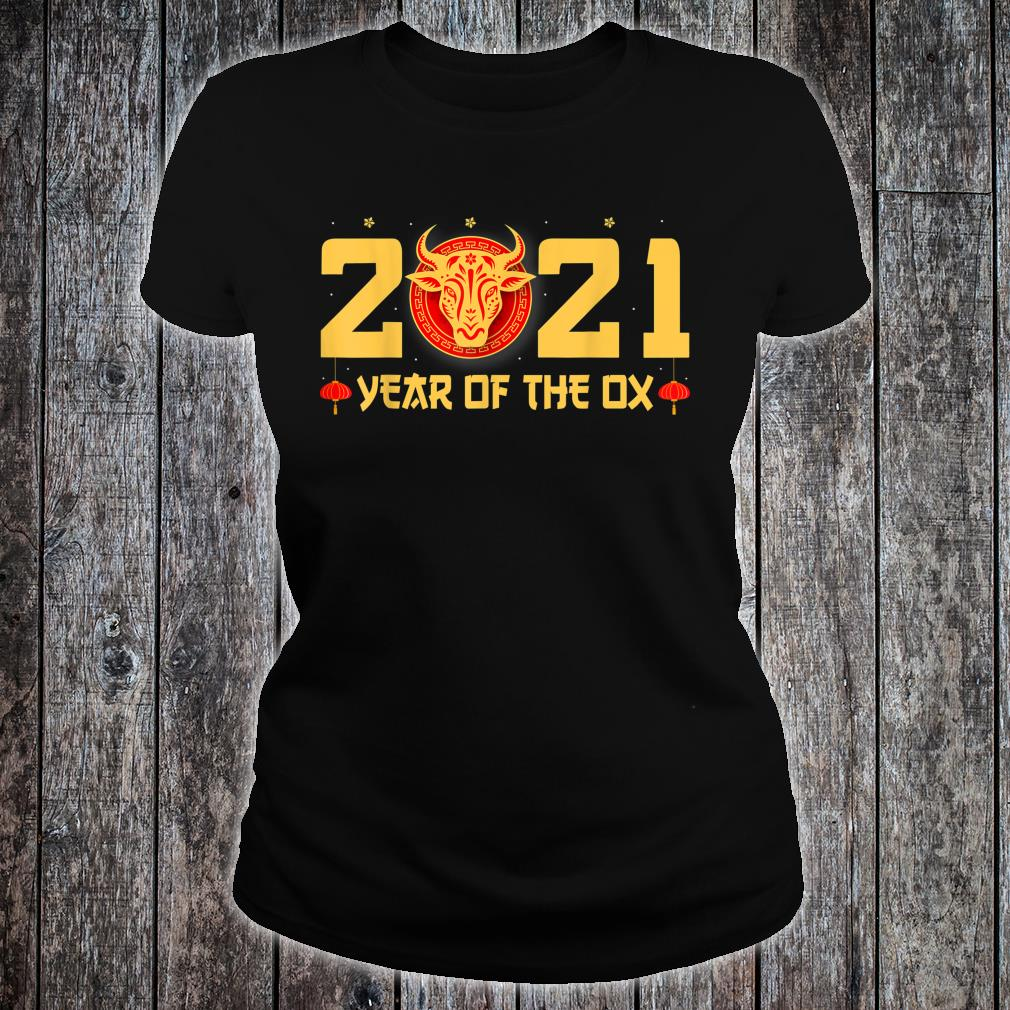 Happy Chinese New Year 2021 Year Of The Ox Shirt ladies tee