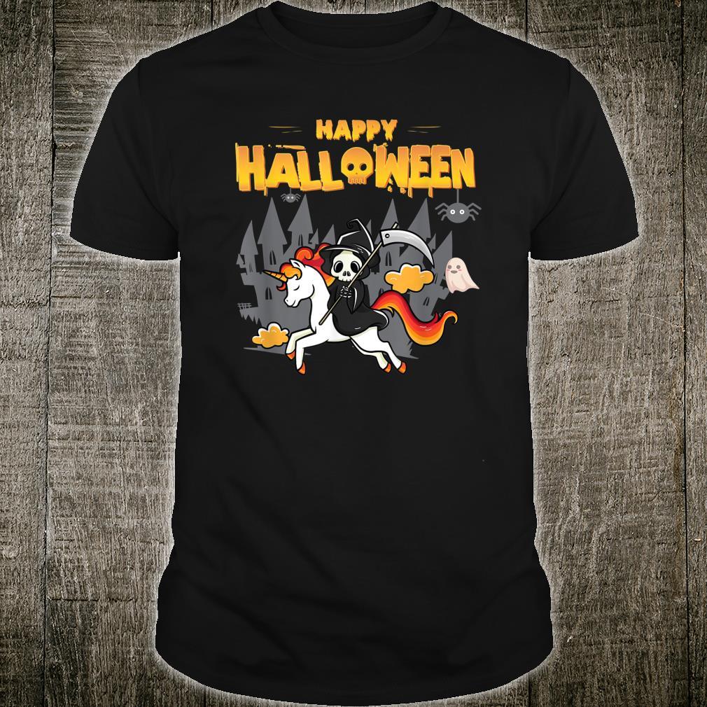 Happy Halloween Skeleton Unicorn Designs Shirt