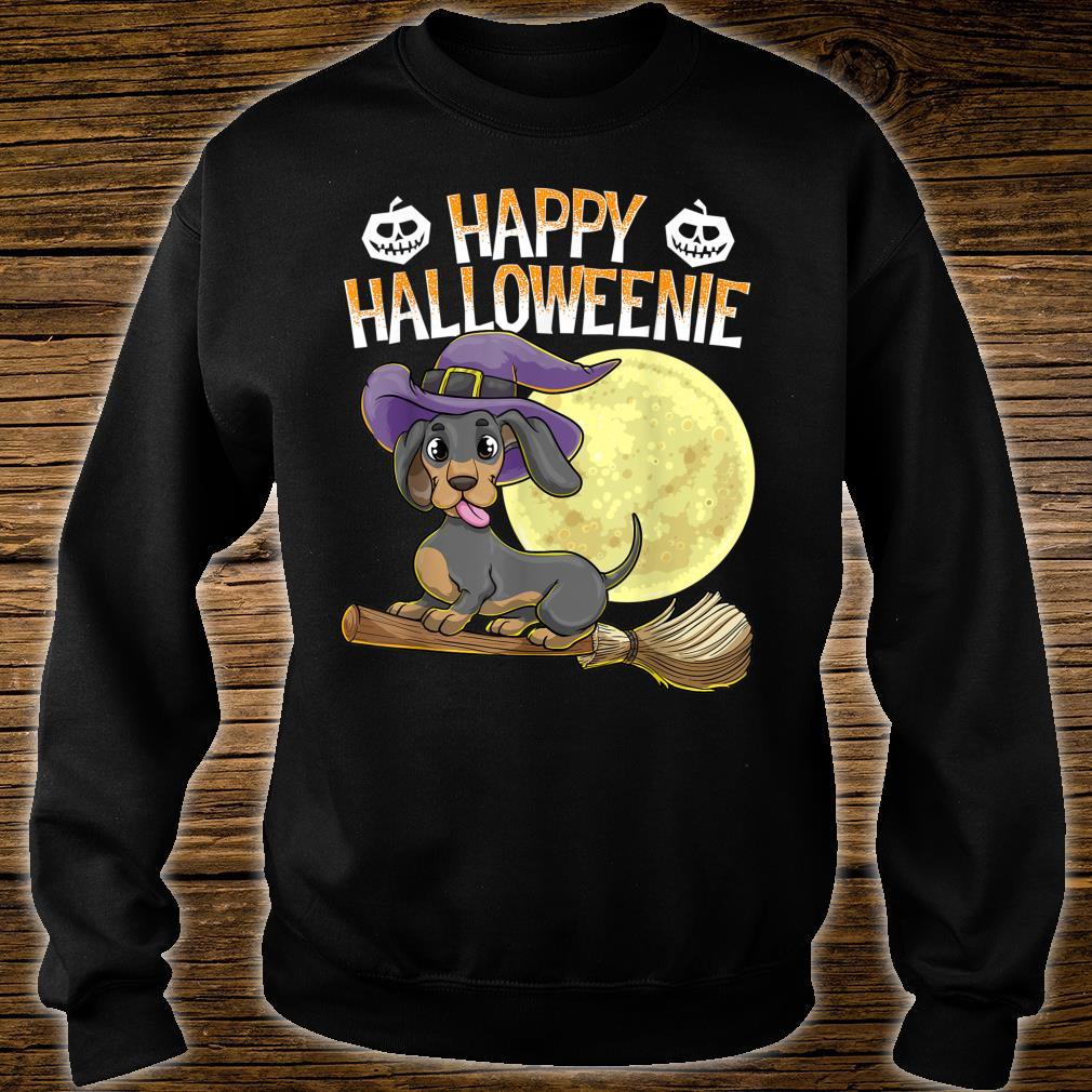 Happy Halloweenie Dackel Hund HalloweenHexe Wiener Besen Shirt sweater