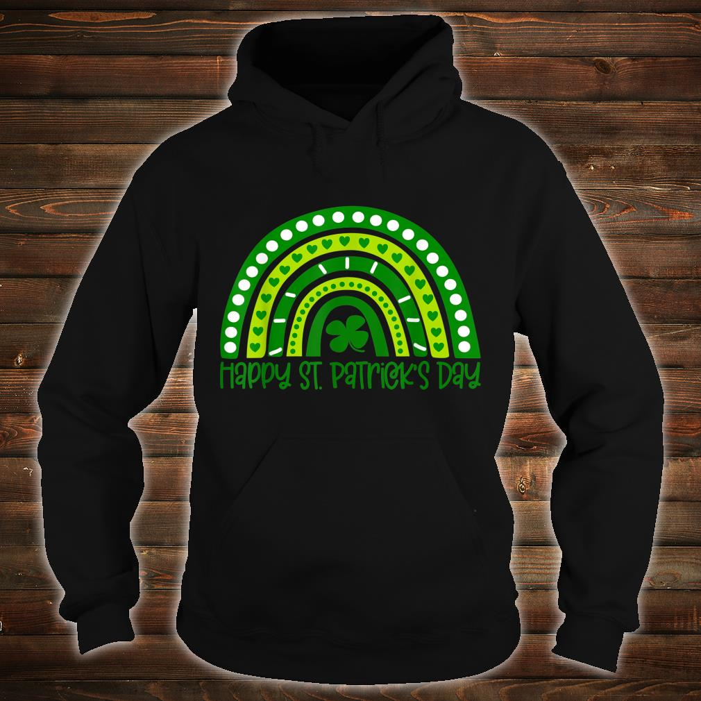 Happy St. Patrick's Day Irish Shamrock Rainbow Patricks Shirt hoodie