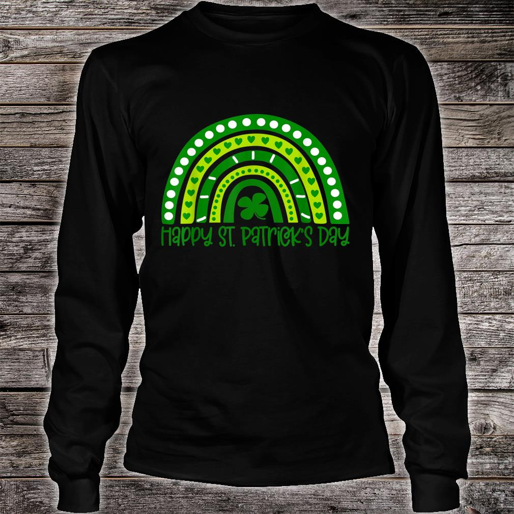Happy St. Patrick's Day Irish Shamrock Rainbow Patricks Shirt long sleeved