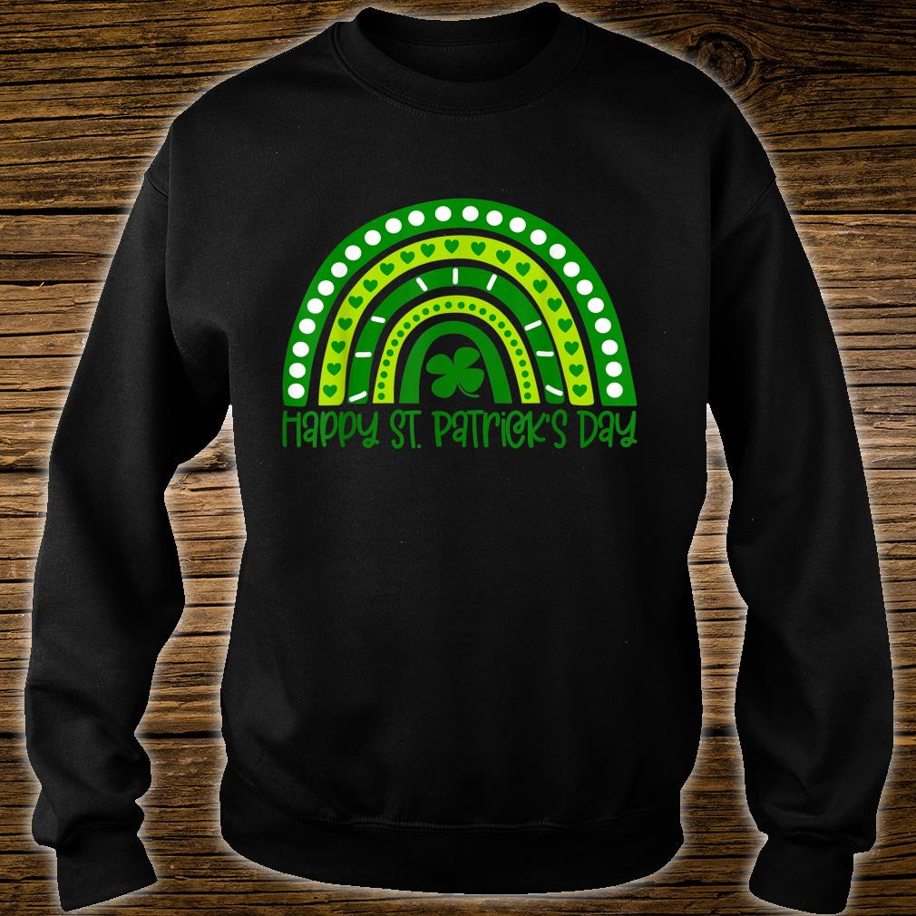 Happy St. Patrick's Day Irish Shamrock Rainbow Patricks Shirt sweater
