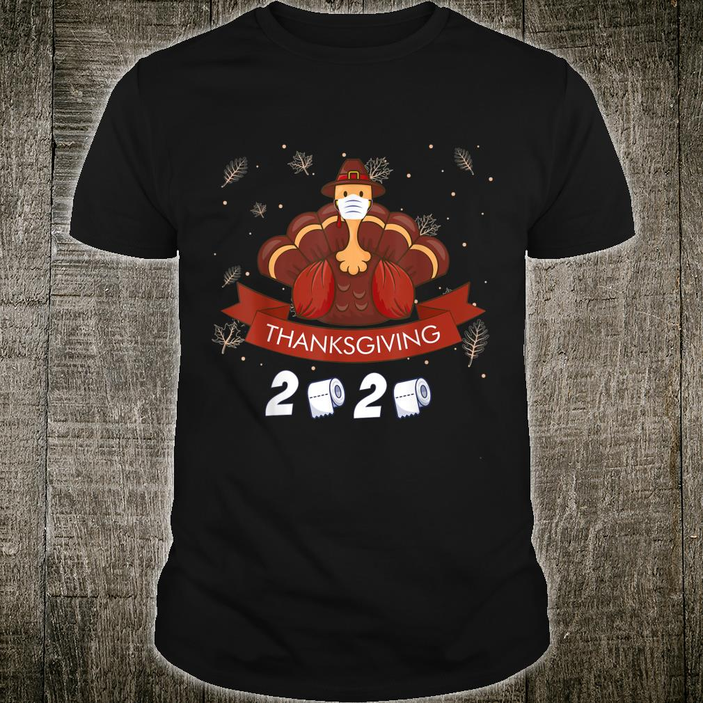 Happy Thanksgiving Turkey Face Mask Quarantine 2020 Shirt