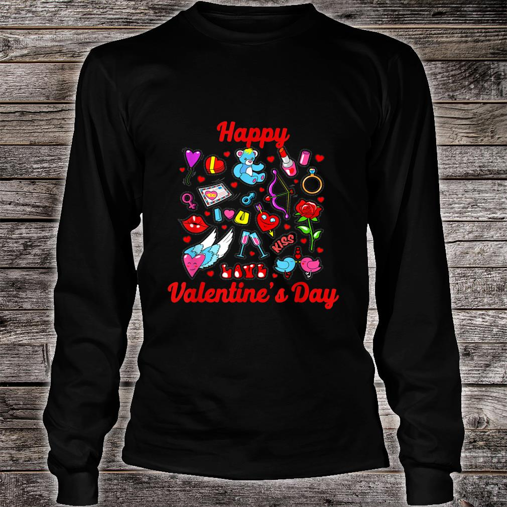 Happy Valentine Day Couple, for Shirt long sleeved