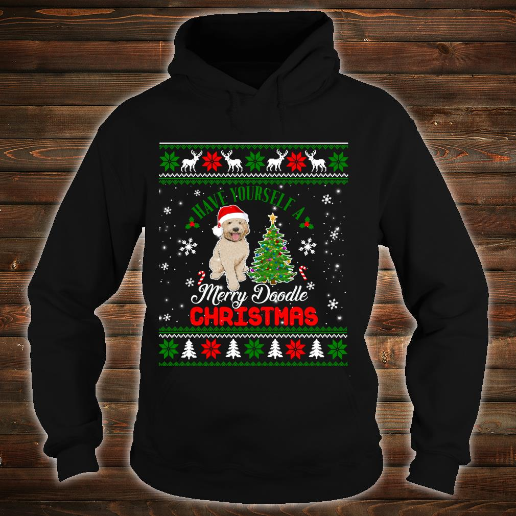 Have Yourself A Merry Doodle Christmas Goldendoodle Dog Ugly Shirt hoodie