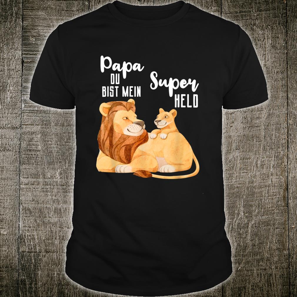 Herren Papa Superheld Geschenkidee Bester Papa Vatertags Geschenk Shirt