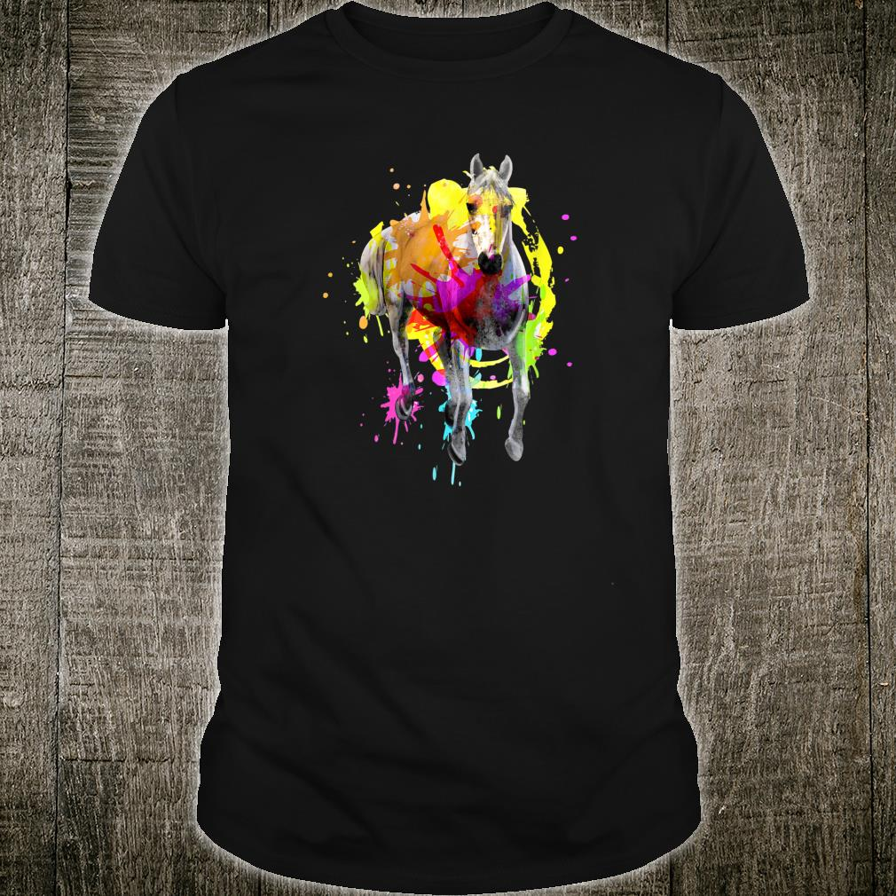 Horse Watercolor Splat Cool Stallion Pony Shirt
