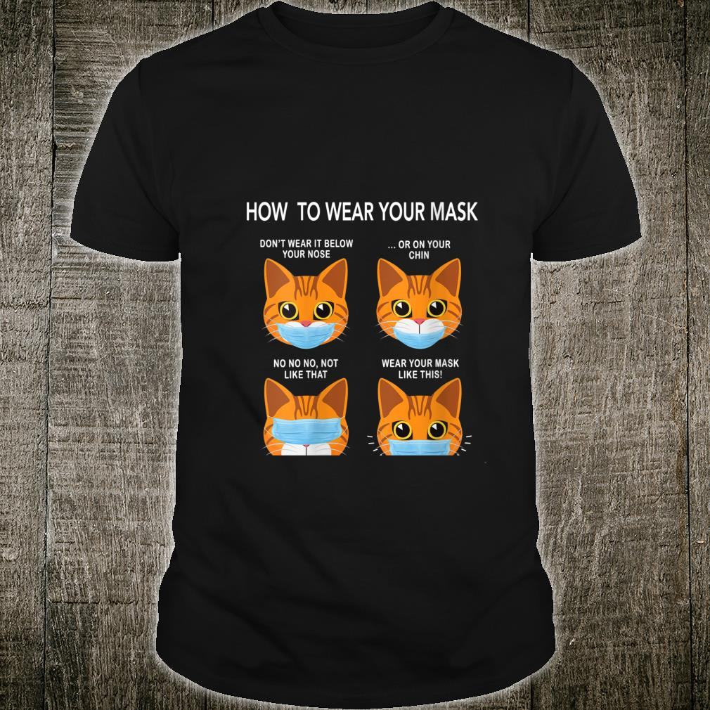 How to Wear a Mask Orange Cat Face Mask Cat Mask Cover Shirt