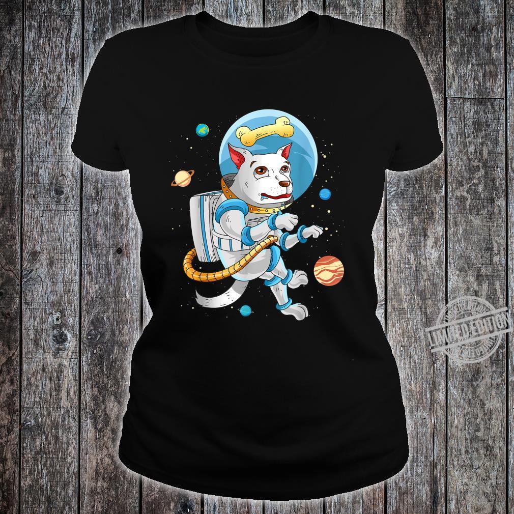 Hund Astronaut Für Hundeliebhaber Geschenk Lustig Weltraum Shirt ladies tee