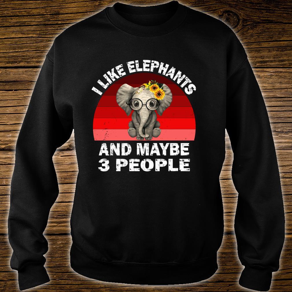 I Like Elephants And Maybe Like 3 People Friend Shirt sweater