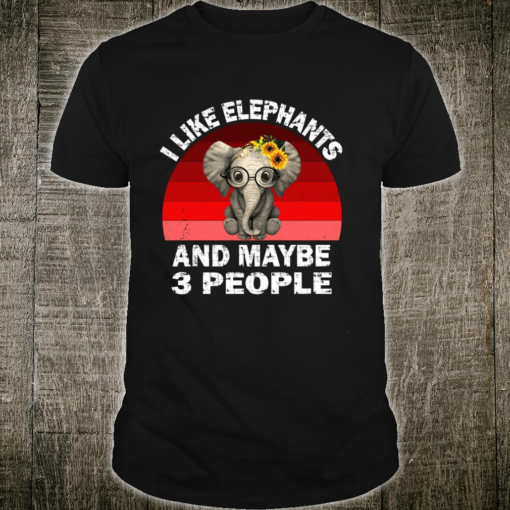 I Like Elephants And Maybe Like 3 People Friend Shirt